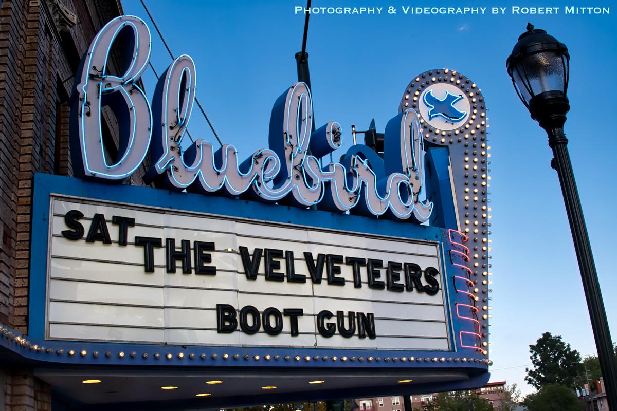 The Velveteers & Boot Gun Bluebird Marquee