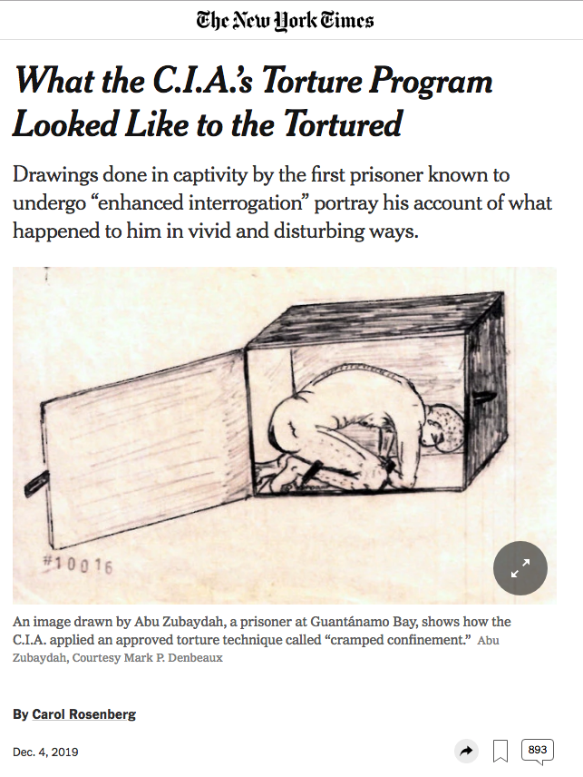 New York Times article of CIA Torture Program