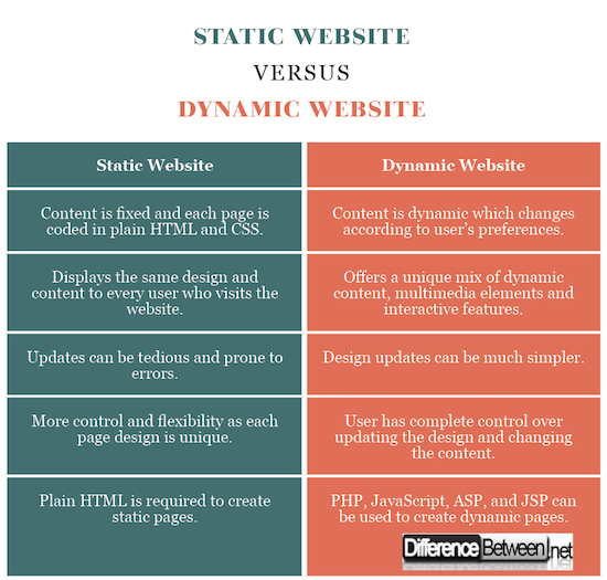 Static Website vs. Dynamic Website