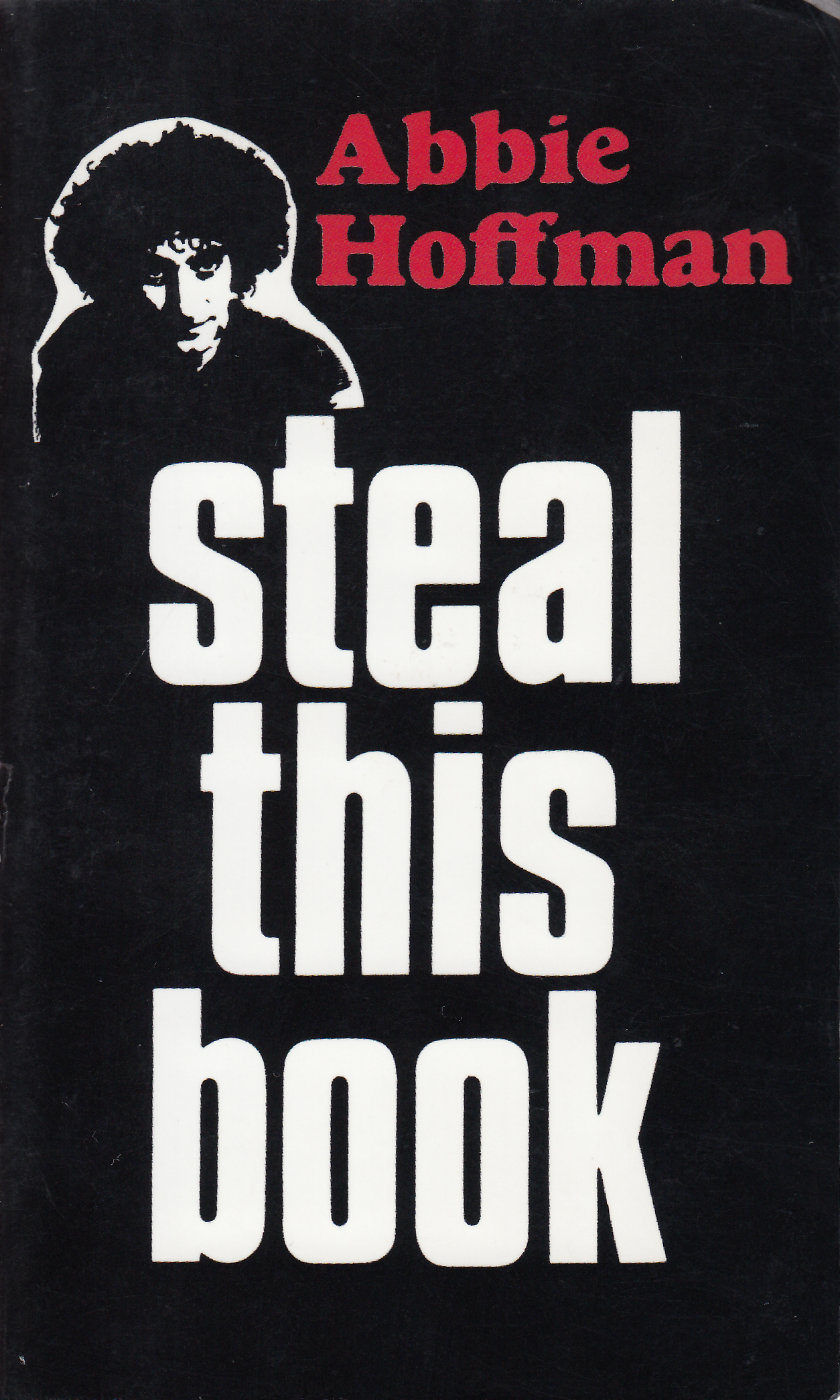The cover of Abbie Hoffman's book