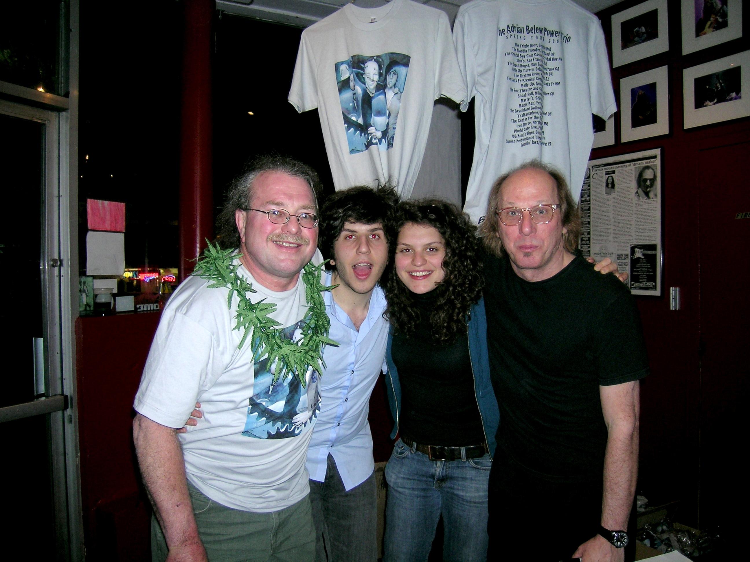 Adrian Belew, Julie Slick, Eric Slick and I