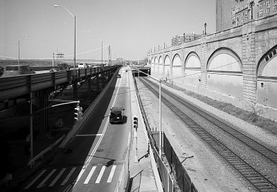 Ramp onto highway out of NYC.