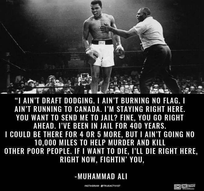 Muhammed Ali standing over a fallen Sonny Liston