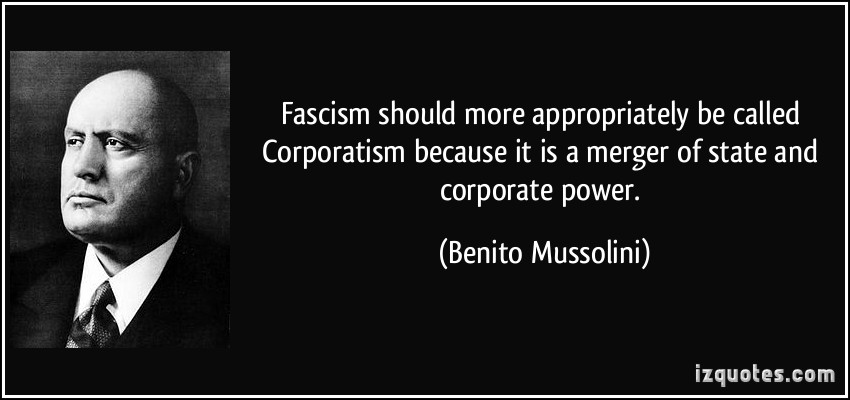Mussolini lamenting on facism