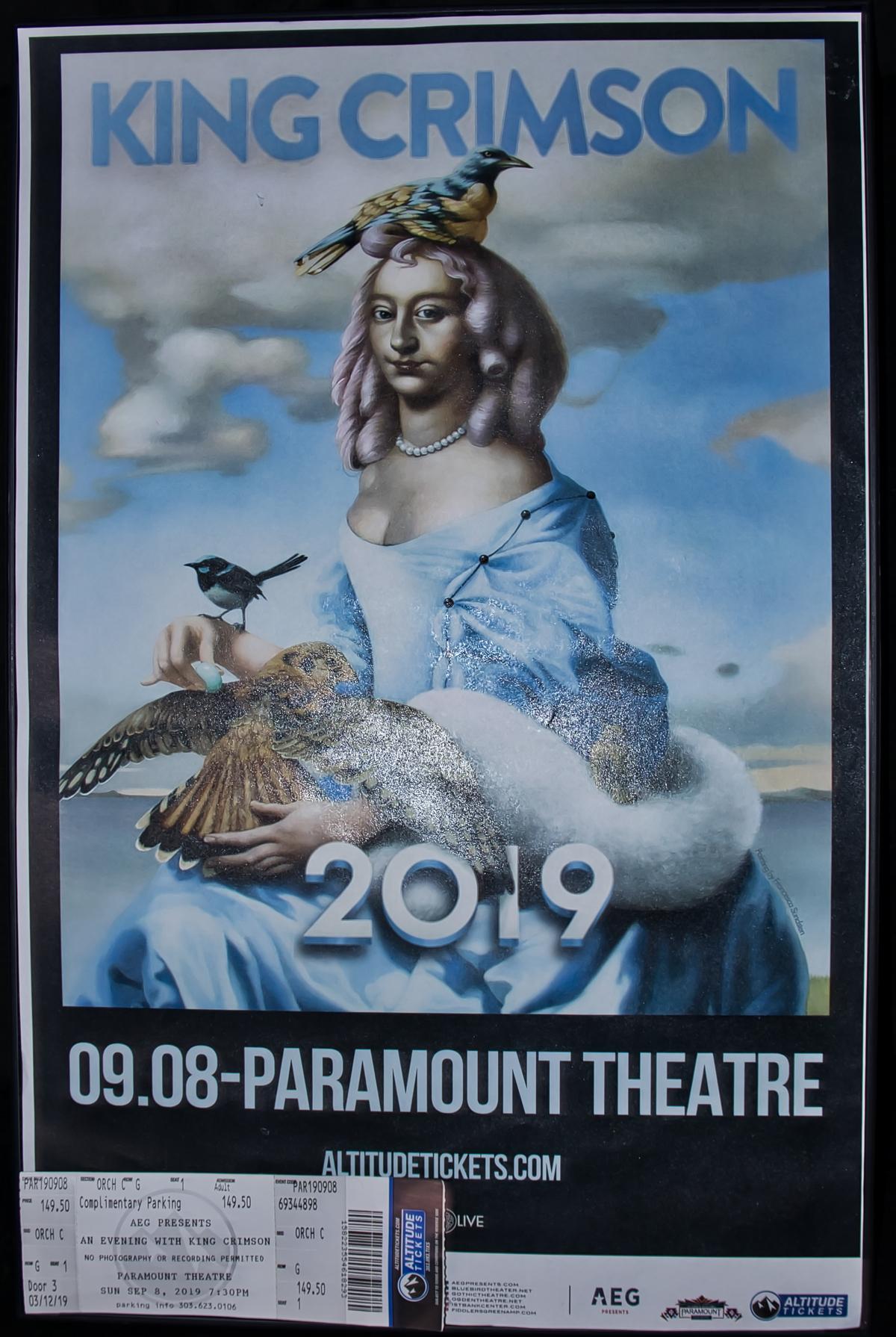 King Crimson Promo Poster Denver 2019