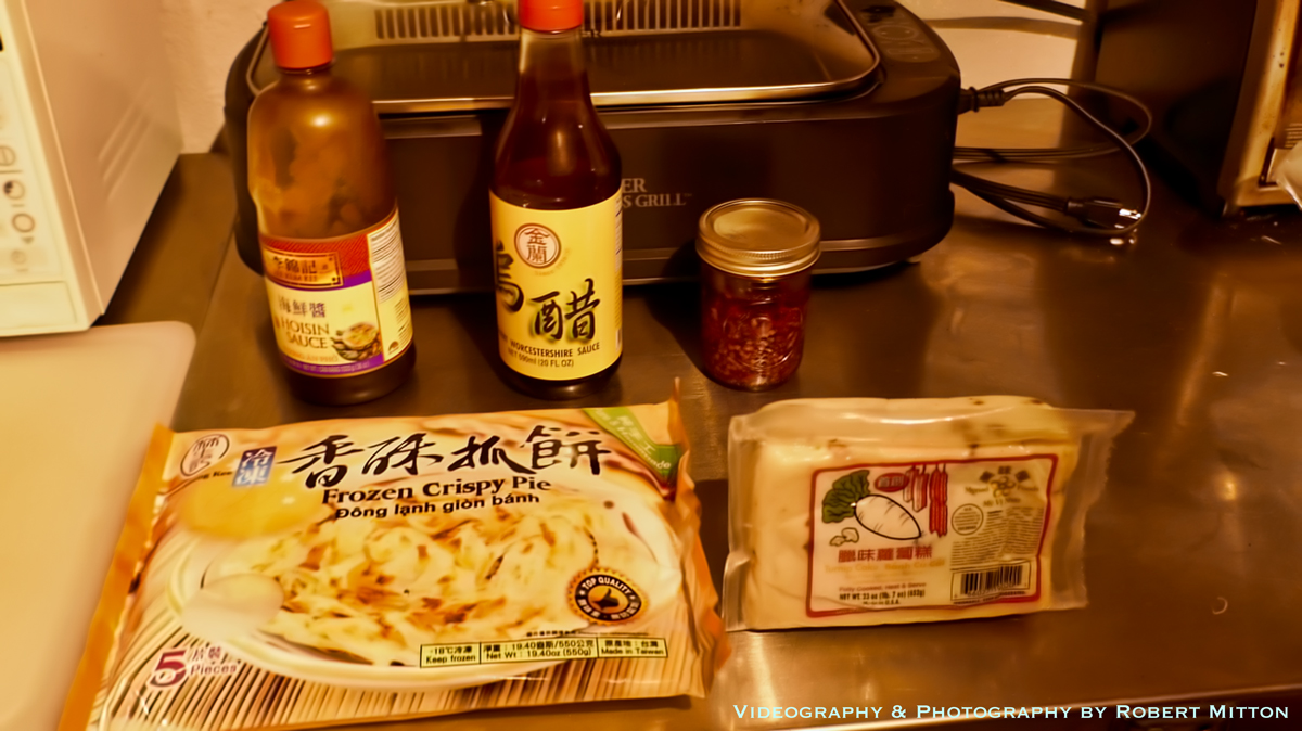 Asian Pancake, Turnip Cake and Sauces