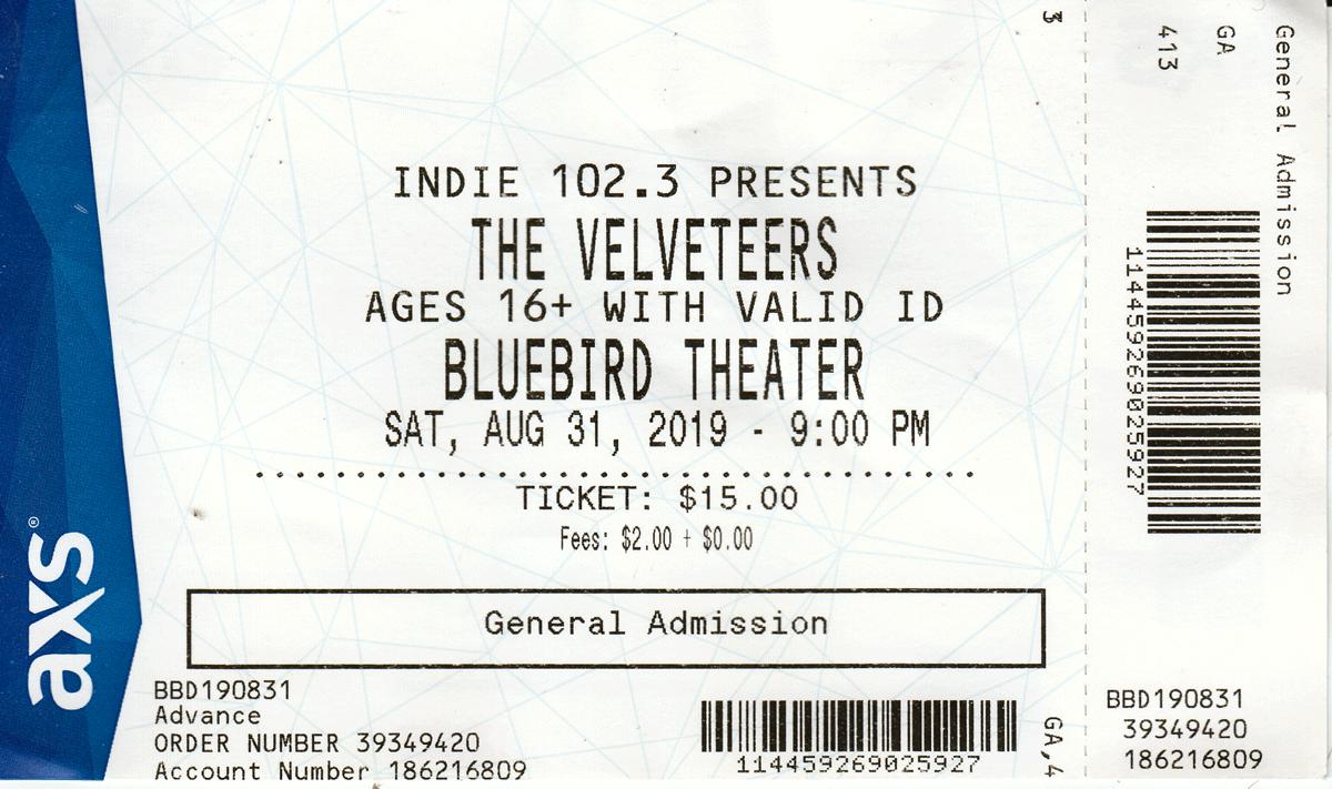 The Velveteers Ticket