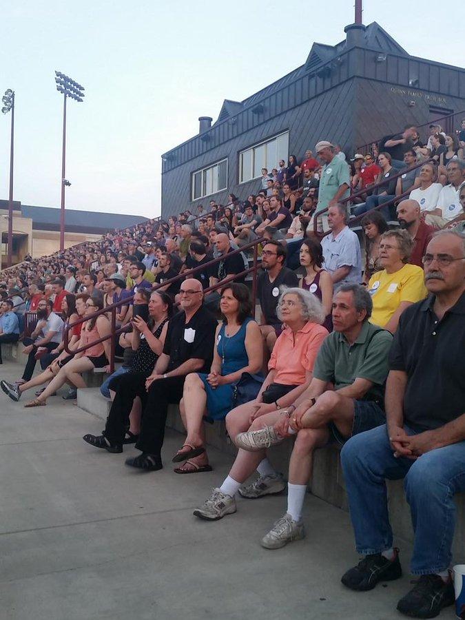 Bernie Sanders June 20, 2019 overflow crowd at Denver University