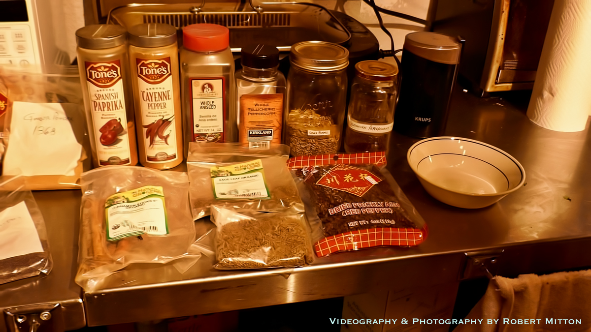 The ingredients for the rub